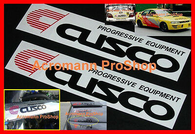 "2x 6"" 15.2cm Cusco Decal Sticker LSD WRX STi GTR JDM civic S15 evo V car vinyl X"