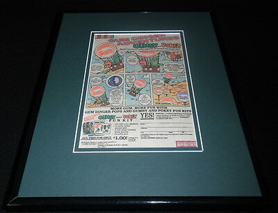 1987 Brach's Gumby & Pokey 11x14 Framed ORIGINAL Vintage Advertisement