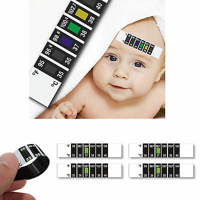 Forehead Thermometer Strip Fever Cold Baby Child Adult Check Test Temperature Uk