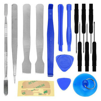 17 IN1 Mobile Repair Opening Tools Kit Set Pry Screwdriver For Cell Phone iPhone