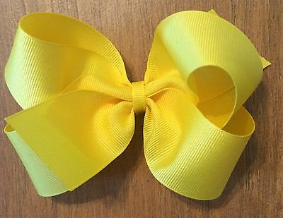 """LOT OF 20 Girl's 5 Inch HAIRBOWS Hair Bows  - Choose Your Colors - 5"""" Hair Bows"""