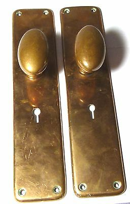 Pair Antique Bronze/copper Alloy Door Handles Knobs;up To 5 Pairs Available