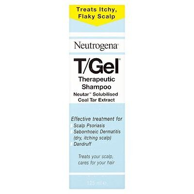 Neutrogena T/Gel Therapeutic Shampoo  Treatment for Scalp Psoriasis 125ml * New
