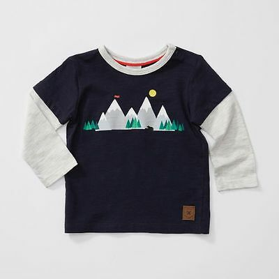 NEW Baby Long Sleeve Mountain Print T-Shirt