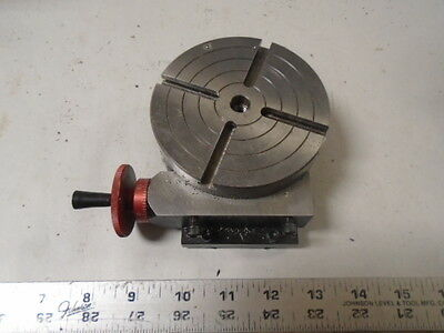 """MACHINIST TOOLS LATHE MILL Machinist Sherline 4"""" Rotary Table"""