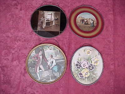 ANTIQUE VICTORIAN LITHOGRAPH ROUND FLUE COVERS Germany~ESTATE~Lot of Four~