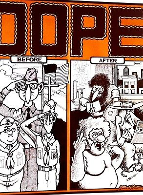 Dope- Before And After - Gilbert Shelton Rat Newspaper 1968 Nyc Original Scarce