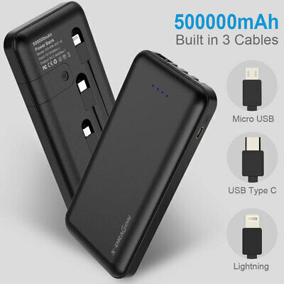 300000mAh Solar Panel External Battery Charger Power Bank For Phone Tablets AU