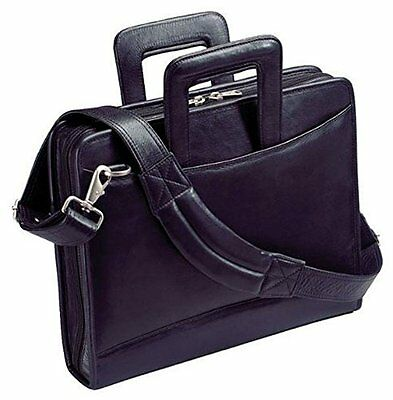 Harness Cowhide Napa Leather Portfolio w/ 3-Ring Binder and Removable Shoulder S