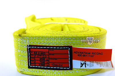 EE2-903 X20FT Nylon Lifting Sling Strap 3 Inch 2 Ply 20 Foot Length USA MADE