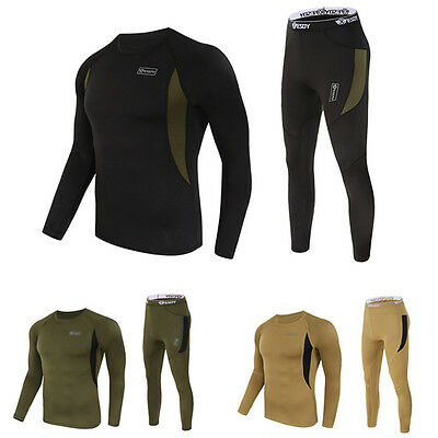 Military Mens Casual Warm Thermal Underwear Sport Tops Long Johns Leggings Pants