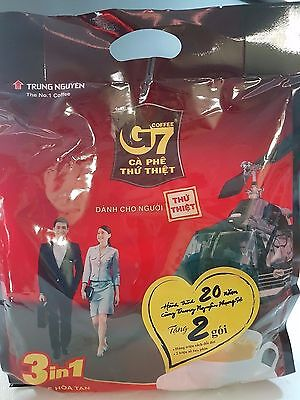 50 sachets x 16g Vietnamese Trung Nguyen G7 Instant Coffee 3 in 1 Coffeemix