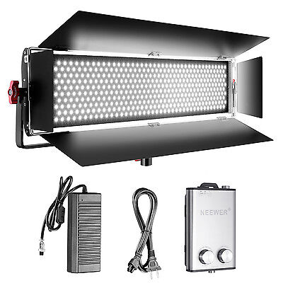 Neewer Dimmable Bi-color 140W SMD LED  Video Light with U Bracket and Barndoor