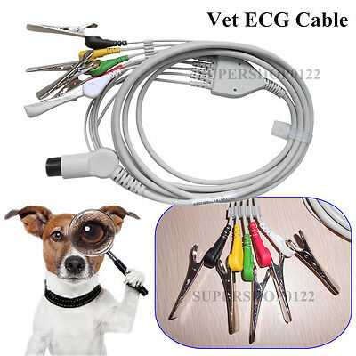 Veterinay 5-leads ECG Cable+5 pcs vet clips Contec Veterinary Patient Monitor