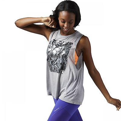 Reebok Studio Favorites Foil Muscle T-Shirt Damen Top