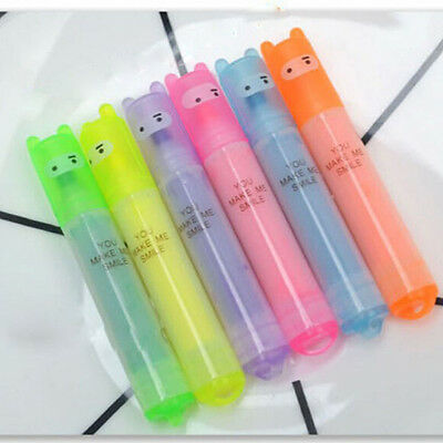 6pc Different Color Mini Cute Highlighter Fluorescent Pens Student Office Marker