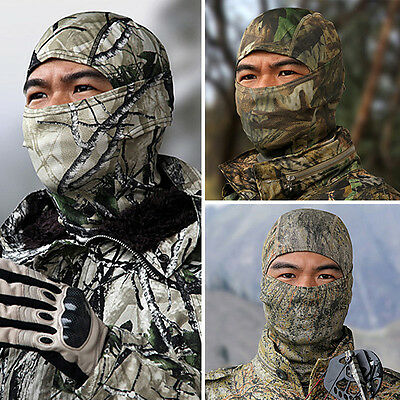 Camouflage Full Face Mask Camo Hunting Airsoft Paintball New