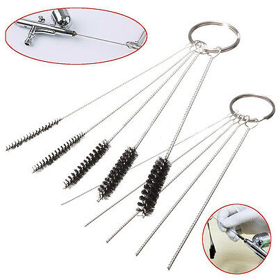 2 Sets Airbrush Spray Cleaning Repair Tool Kit Stainless steel Needle Brush