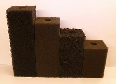 "COARSE FILTER FOAM BLOCKS 6"", 8"", 10"", 12"" SIZES.Drilled 30mm hole. Pond Media"