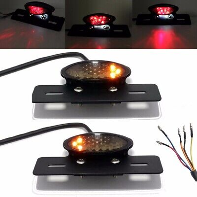 12V LED Motorcycle Bobber Turn Signal Brake License Plate Integrated Tail Light