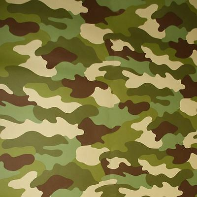 Camouflage Wallpaper Green 10M Kids Bedroom Wallpaper Free P+P New