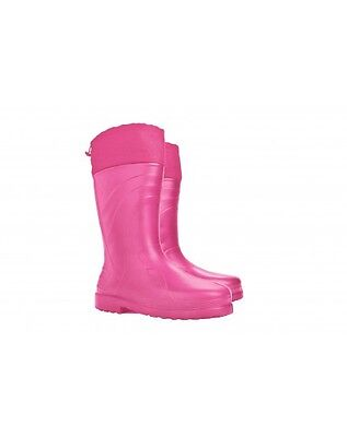 Demar Luna-S Women's Ultra-Lightweight Pink Wellington Boots Sizes 3-9