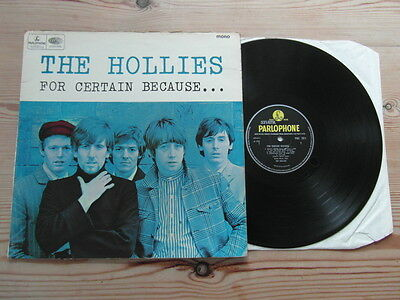 THE HOLLIES - FOR CERTAIN BECAUSE...-1st MONO PRESS-GREAT AUDIO-VG VINYL LP 1966