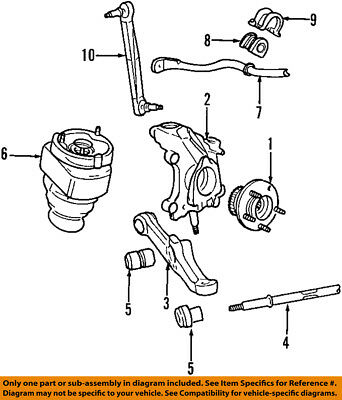 Lincoln FORD OEM 95-02 Continental Front Suspension-Bushings F5OY3C067A