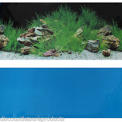 "19""/49cm Aquarium Background Planted Blue/Planted Aquarium Fish Tank #J"