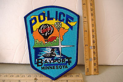 ~Bayport Police~D.a.r.e.~Minnesota Fabric Patch~Features Hot Air Balloons~