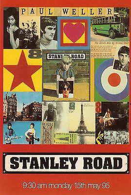 paul weller, stanley road - promotional sticker - the jam, mod
