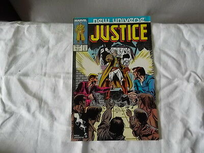 Justice vol 1 n° 12 new universe marvel comics en anglais 1987