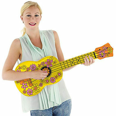 80cm Rock Roll Pop Country Music Party Inflatable UKULELE Instrument Prop