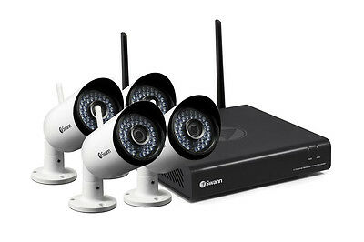 Swann 4 Channel 1080p 1TB Wireless Monitoring System with 4 x Wireless IP