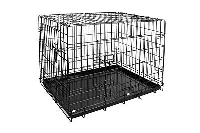NEW Pawever Dog Crate 36 Inch Collapsible Metal Transport Pet Safely