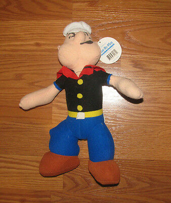 """1992 Popeye Plush Large 13"""" Stuffed Doll Play By Play Vintage Toy"""