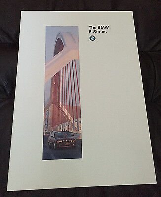 1995 BMW 5-Series Sedan 525i 530i 540i E34 Sedan Original Sales Dealer Brochure