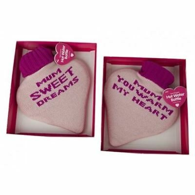 New Heart Shaped Cosy Hot Water Knitted Cover Bottle Winter Mom Mothers day gift