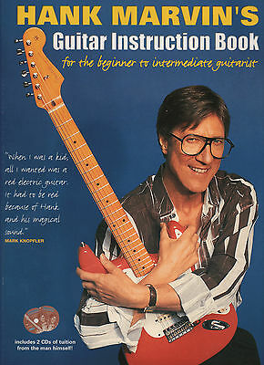 HANK MARVIN'S GUITAR INSTRUCTION BOOK Learn How To Play Sheet Music & 2 x CDs
