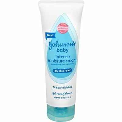 Johnson & Johnson's Baby Intense Moisture Cream, 8 Oz (Brand New)