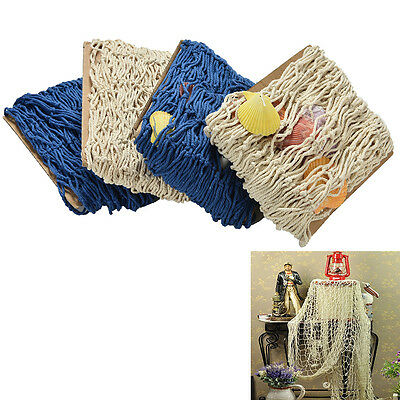 Fish Netting Decoration Nautical Decorative Fish Net Sea Shells Seaside ITBU