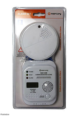 Carbon Monoxide & Smoke Alarm Set
