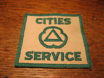 "Original Vintage CITIES SERVICE Gas Service Station Patch 3"" x 2.75"" UNUSED"