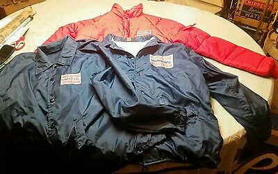 3 Vintage Uniroyal Tire s Employee Jackets Eau Claire WI Gas Oil Station Rat Rod