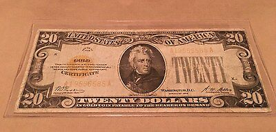 1928 Twenty Dollar $20 GOLD CERTIFICATE Circulated