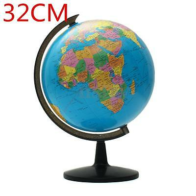 Blue Ocean World Globe Map With Swivel Stand Geography Educational Teaching Toy