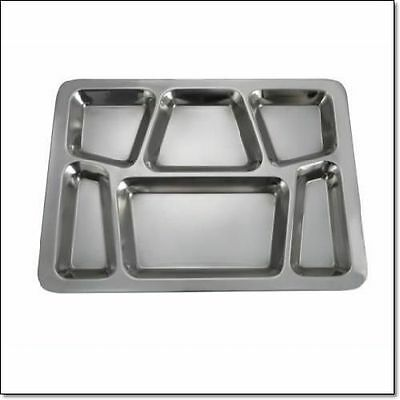 Winco 6Compartment Mess Tray PAN salver Style Commercial quality stainless steel