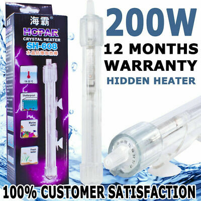Hopar Aqua Automatic Submersible Aquarium Fish Tank Hidden Heater Crystal 200W
