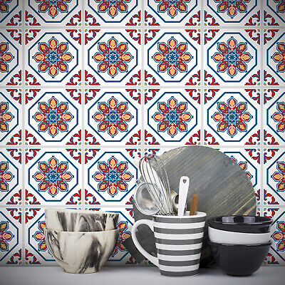 Tile Stickers Transfer Traditional Vintage 100mm x 100mm Kitchen Custom Sizes T3