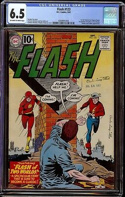 Flash # 123 CGC 6.5 Off-White to White (DC, 1961) 1st Golden Age Flash in SA